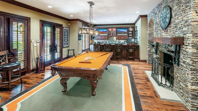 Lower-level man cave