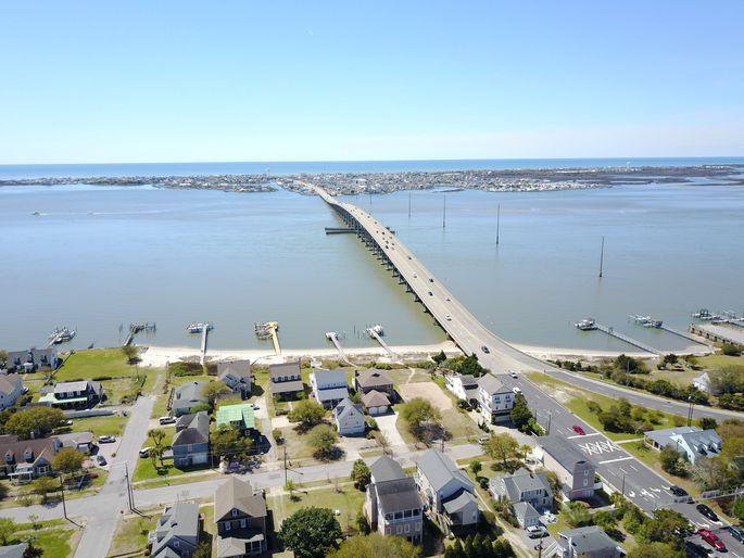 Morehead City and the Atlantic Beach Bridge in North Carolina