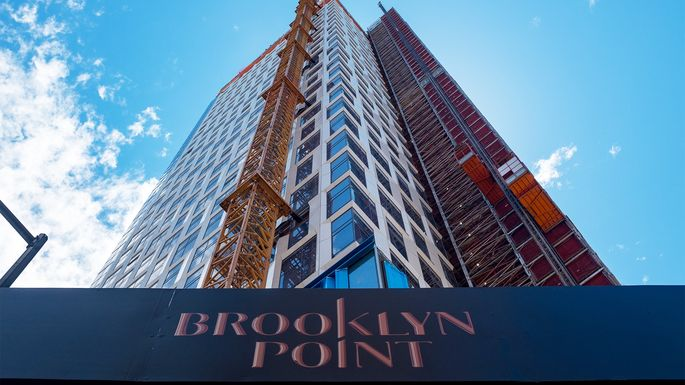 Condo tower being constructed in Downtown Brooklyn