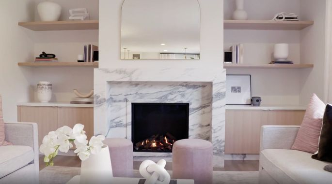 This fireplace welcomes everyone into the living room.
