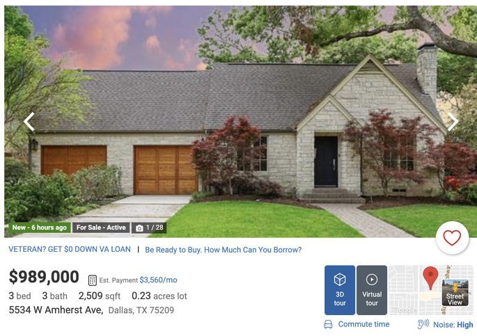 Take a look at the Google Street View on realtor.com.