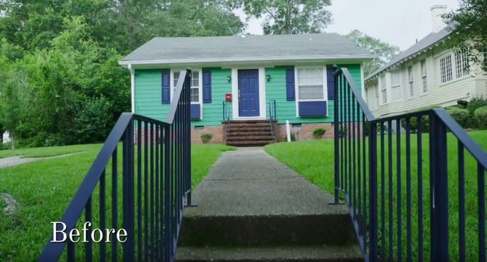 This house was definitely missing something before Erin and Ben Napier decided to add a porch.
