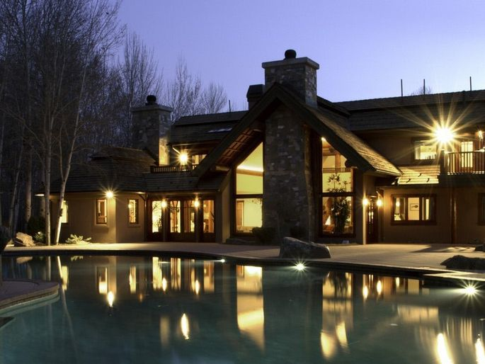 Bruce Willis' vacation home in Hailey, ID