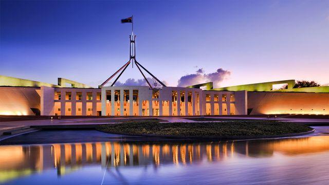 Parliament building in Canberra, Australia