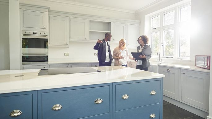 estate agent conducting a viewing