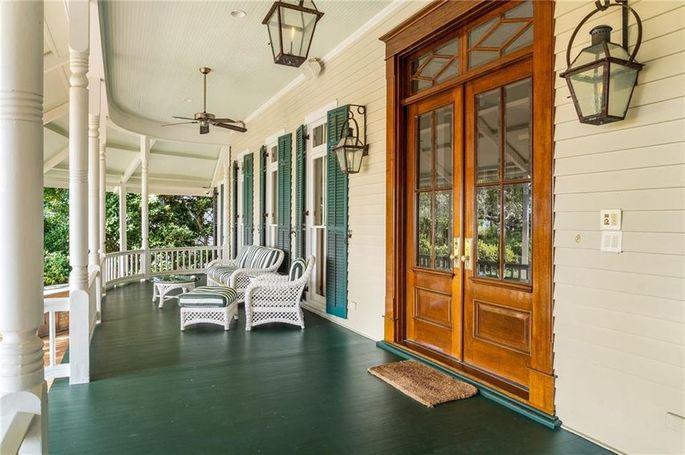 Wraparound covered porch