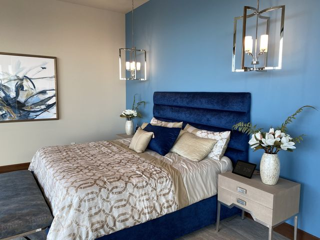The New American Home, master bedroom
