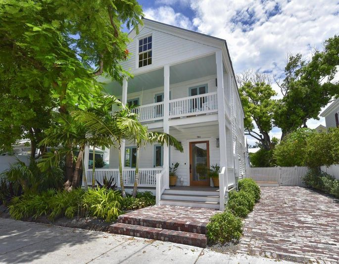 Dale Earnhardt Jr. and his wife, Amy, restored this Key West, FL, home on DIY TV.