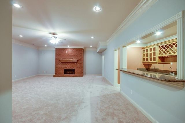 Basement with kitchen