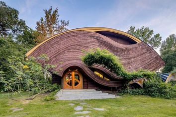 Must-See Wavy Masterwork by Architect Arthur Dyson Available for $600K