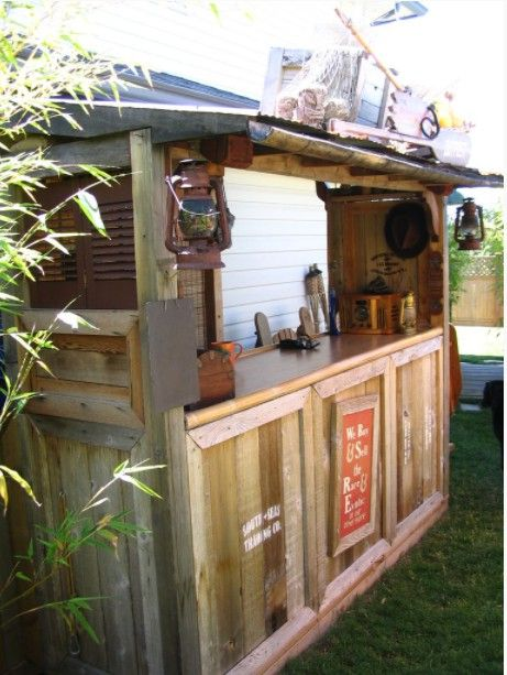 A Tiki bar shed out back
