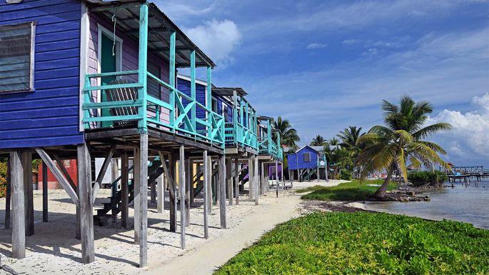 Beach homes in Caye Caulker