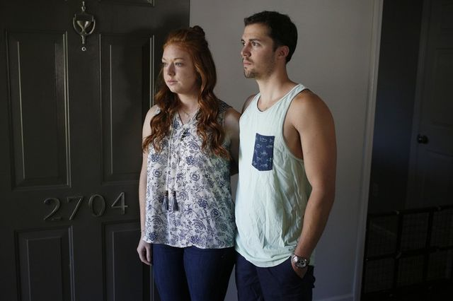 David Bowater, with his fiancée, Alexa Callanan, says rent increases on their townhouse in Spring Hill prompted them to buy a house in Columbia, Tenn.