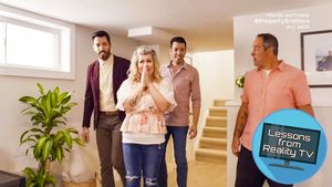 The Property Brothers Put a Living Room in a Surprising Place for a Seriously Smart Reason