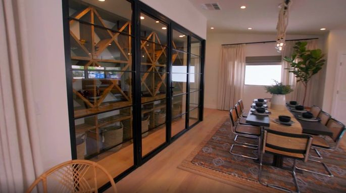 This wine room will make for a great conversation starter at dinner parties.