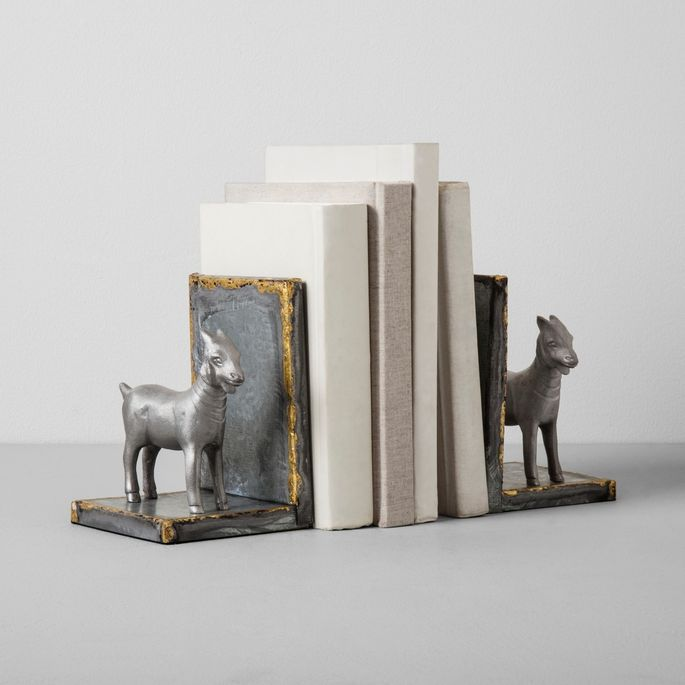 These bookends are quirky, yes, but they make a statement and will round out any bookshelf display.