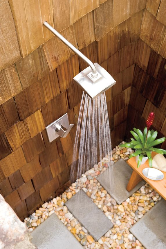 This shower head is about as close to a waterfall as you can get without leaving your backyard.