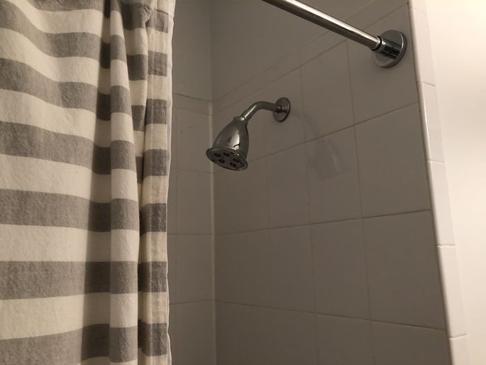 The very first thing I do in any new apartment is to replace the shower-head.