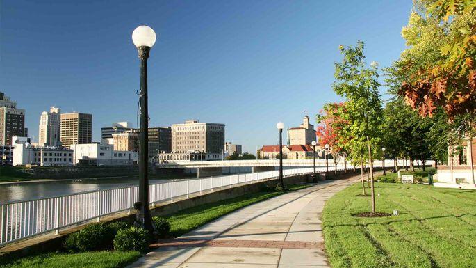 Riverside walk in Dayton, OH