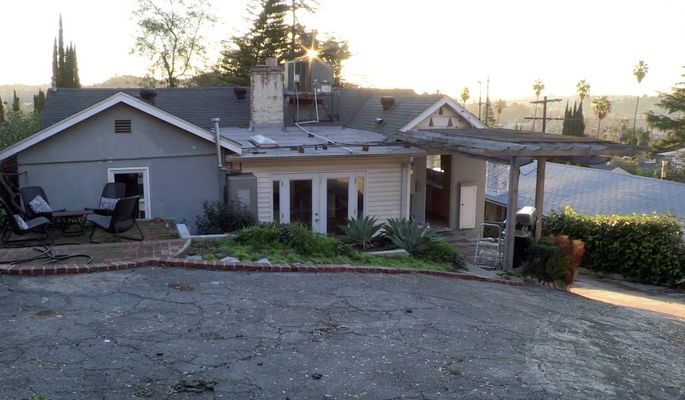 Before: Alex Shaw and Tom Schultz's home in Los Angeles was an eyesore.