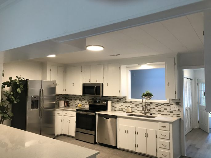 Caban's new spacious kitchen makes her want to cook again.