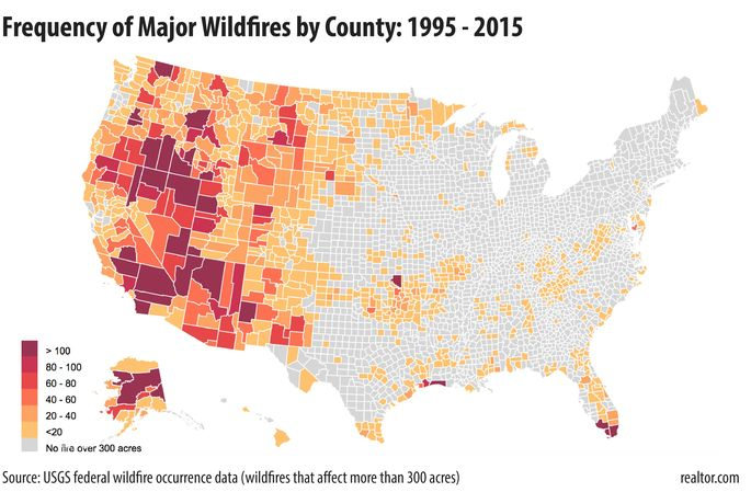 The US Counties Where Natural Disaster Is Most Likely to Strike