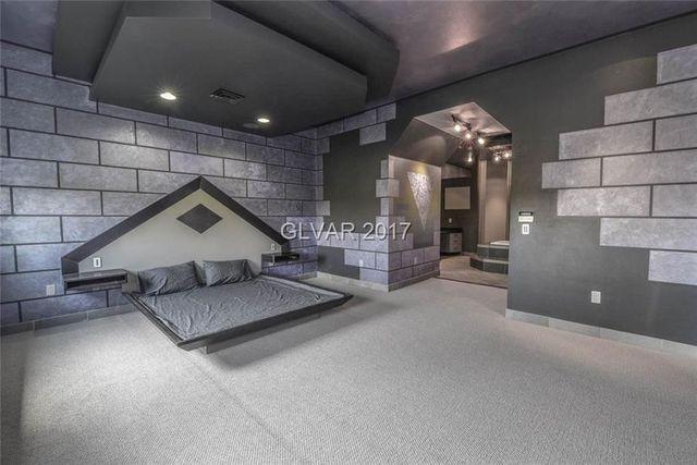 Purple Palace master bedroom