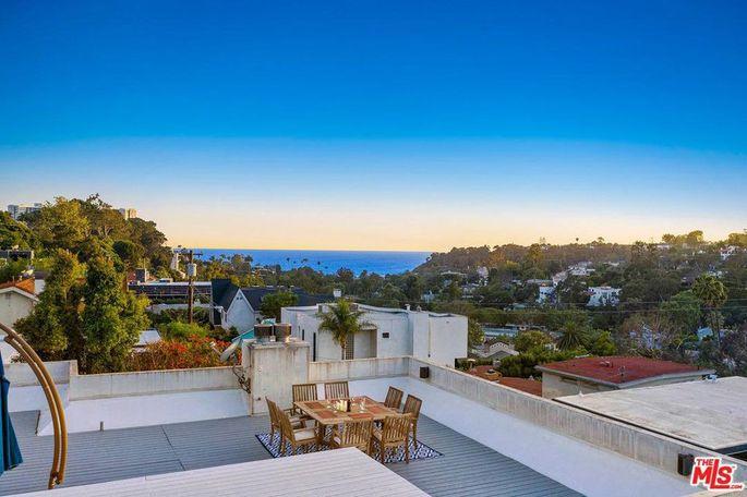 Rooftop deck with ocean view