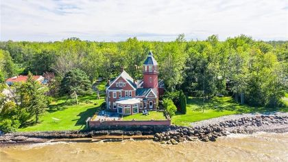 Live in the Braddock Point Lighthouse on the Shores of Lake Ontario