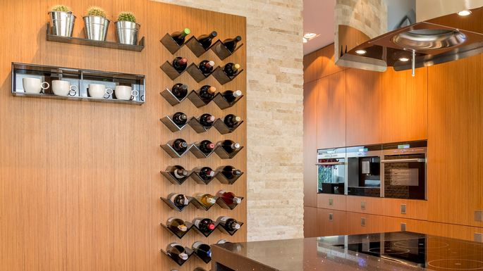 modern-wine-rack & 8 Wine Storage Ideas (No Wine Cellar? No Problem!) | realtor.com®