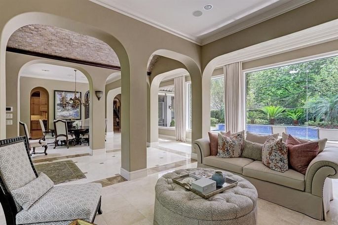 Open living and dining space