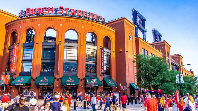 Busch Stadium, home of the St. Louis Cardinals