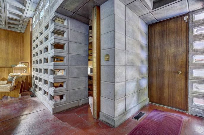 Concrete blocks inside and out