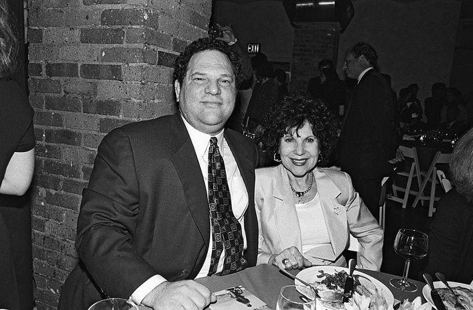 Harvey Weinstein and his now-deceased mother, Miriam.