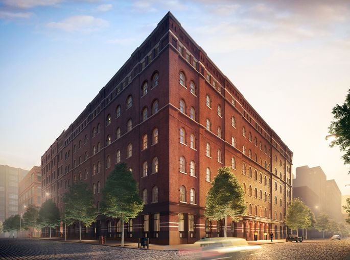 Rendering of exterior of 443 Greenwich