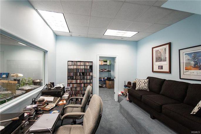 Control room and recording studio