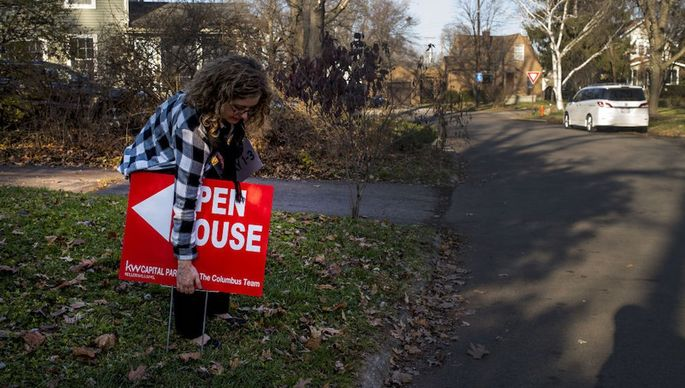 Potential Buyers Attend An Open House Ahead Of Existing Home Sales Figures