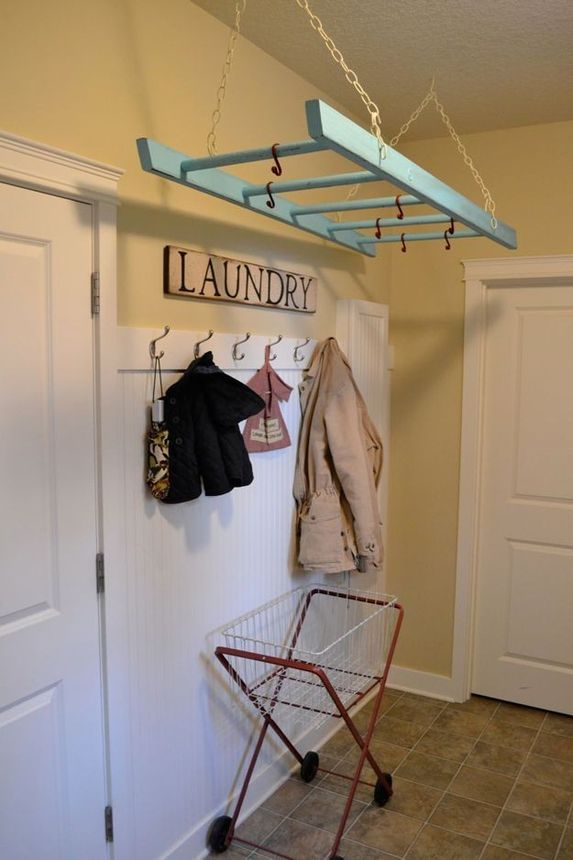 An old ladder is the perfect drying rack.