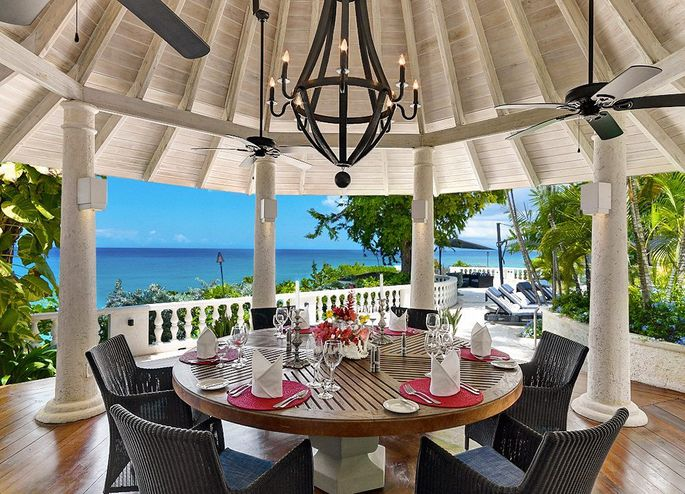 A private dining area on the veranda makes meals even more memorable.