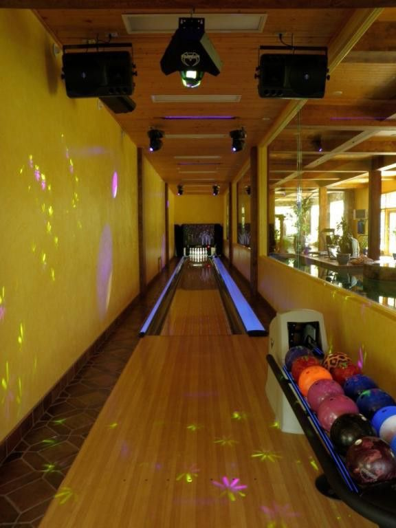 A personalbowling alley purchased from the Neiman Marcus catalog