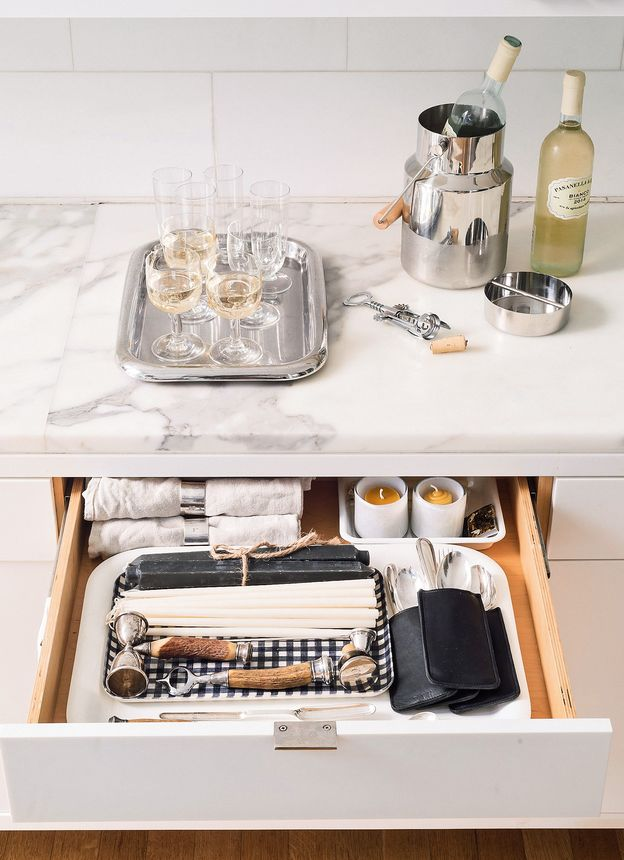 """Hosting a get-together on the fly will never be stressful again if your biggest task is to pull out a tray with your """"Instant Cocktail Party"""" kit."""