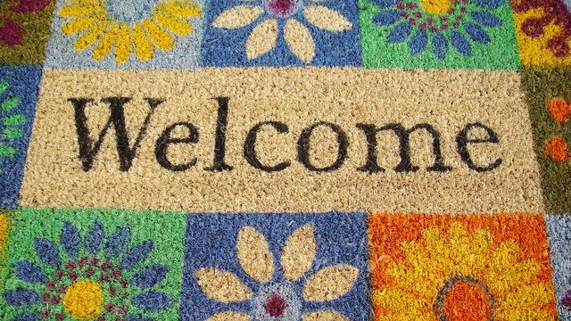 A spring-y welcome mat