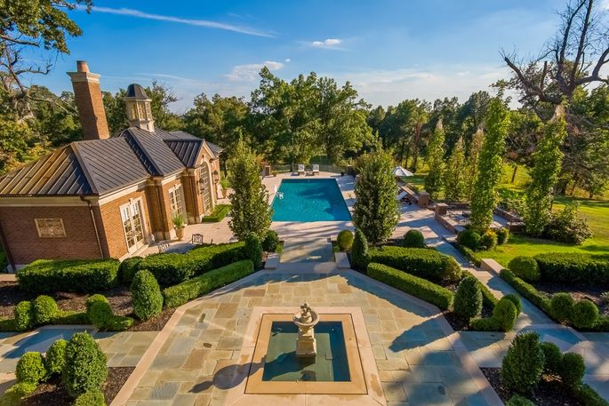 The grounds of Kentucky's most expensive home