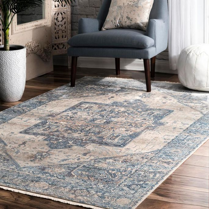Anchor your dining room with a classic Persian rug.