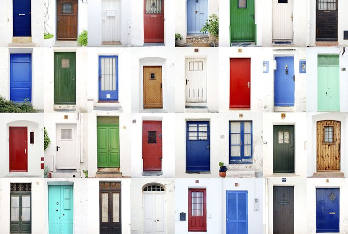 doors-of-many-colors & Your Front Door Color Reveals More About You Than Youu0027d Think ...