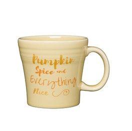 Put your pumpkin spice latte in this pumpkin spice mug.