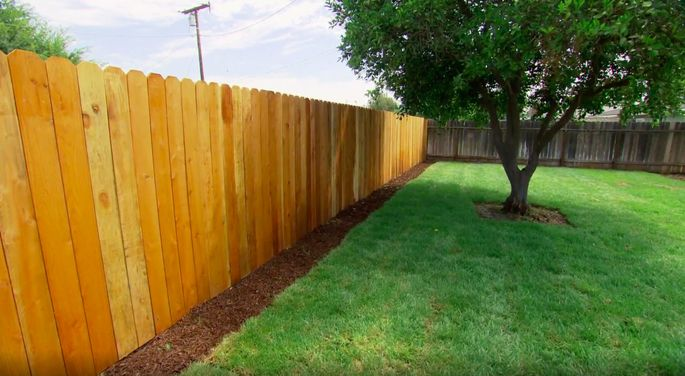 This fence is a big upgrade from what was there before.