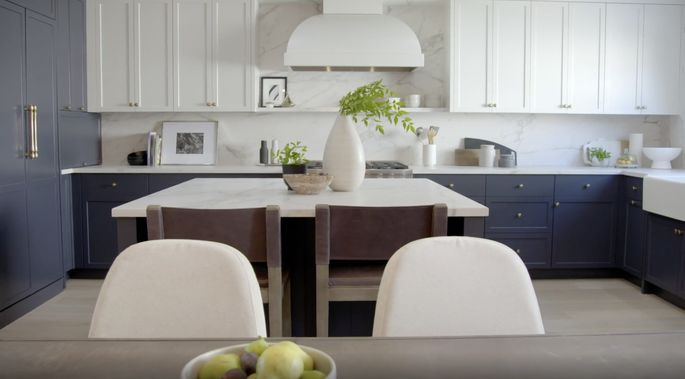 The Scott brothers love designing two-tone kitchens.
