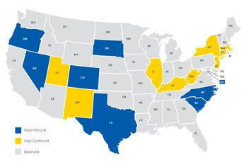 Study Shows States Where Americans Moved in 2013