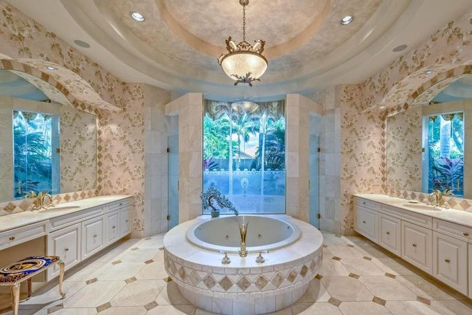 Talk about bathing in the lap of luxury!